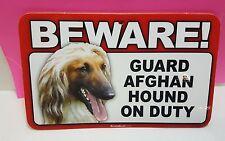 AFGHAN HOUND -BEWARE GUARD DOG SIGN,SCANDICAL,ST 801 , LAMINATED,FREE SHIP