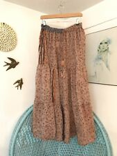 Gypsy Midi  Boho Skirt Flower Vintage Indian 8 10 12 14 16 18 Cotton Festival 20