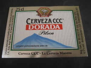 Beer Label Ccc Gold Pilsen 25 Cl. Beer