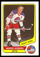 1976 77 OPC O PEE CHEE WHA #125 ANDERS HEDBBERG EX-NM WINNIPEG JETS HOCKEY CARD
