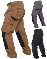 Mens Work Cargo Pant Knee Pad Pocket Heavy Duty Combat Outdoor Work wear Trouser