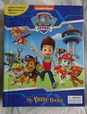 PAW PATROL BUSY BOOK FIGURES STORY & PLAYMAT CBEEBIES KIDS BRAND NEW SEALED