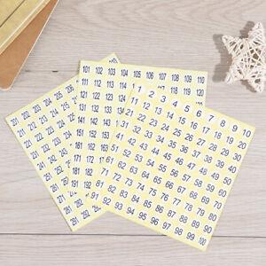 15 Sheet Number Self Adhesive 1-300 Labels Stickers Nail Polish Number T.BI