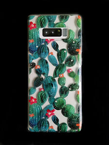 Cactus Series Soft Slim Crystals Protective Case Cover for Samsung Galaxy Note 8