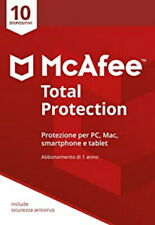 McAfee Total Protection  10 PC 1 ANNO  2021