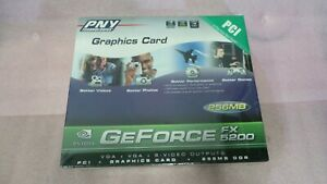PNY GEFORCE FX 5200 256 MB GRAPHICS BY NVIDIA  NEW
