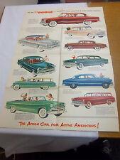 1953 DODGE SALES BROCHURE PAMPLET POSTER VINTAGE CONVERTABLE CAR   **