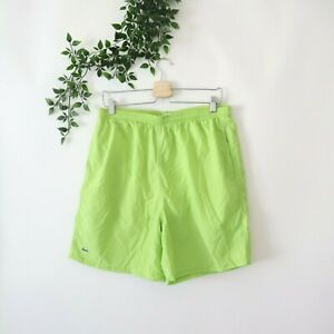 Lacoste Men's Built In Briefs Swim Trunks Size L Large Green
