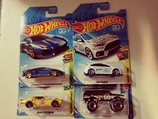 2018-Hot Wheels-4 Kmart Exclusive-Blazer 4x4,Focus RS,Cougar,Miura-1:64-Boys-3+