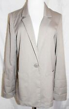 H & M Blazer Stretch Blend Single Button Taupe Gray Jacket size 8