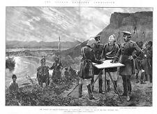Afghanistan la limite de la Commission au Zulfikar-impression antique 1886