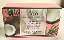 Asquith & Somerset Coconut Bath BAR SOAP 10.5 oz Mix and Match Paper Wrapped