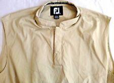 Footjoy-Mens Golf Pullover Windbreaker Vest Jacket, Large, Snap Button Collar