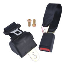 Car Seat 2 Point Lap Retractable Safety Seat Belt Strap Buckle Adjustable a+