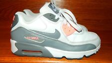 Nike Air Max 90 LTR GS Kids 833376-006 Boys Girl Youth Size 5Y Gray White Orange