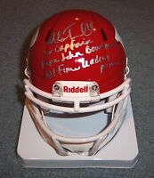NJ Rutgers Mike Teel Signed Autographed Mini Helmet 2X Captain Bowl MVP COA