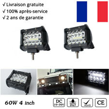 "2x 60W 4"" Cree Rampe LED phares longue portée Moto 12V SUV 4x4 Buggy l'éclairage"
