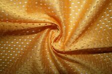 Yellow #12 Athletic Sports Mesh Knit Polyester Football Jersey Fabric Bty