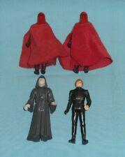 vintage STAR WARS FIGURE LOT #303 Emperor's Royal Guard x2, Luke Jedi, Emperor