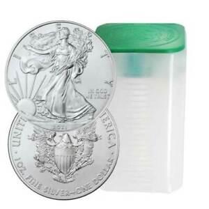 Lot of 20 - 2021 $1 American Silver Eagle 1 oz Brilliant Uncirculated