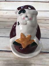 Jo-Ann Santa Claus w Star Tea Light Holder Christmas Holiday Decor