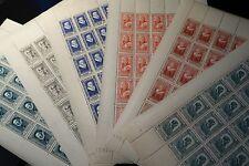 FEUILLE SHEET TIMBRE CÉLÉBRITÉS N°587/592 x25 1943 NEUF ** LUXE MNH COTE 375€