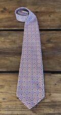 1970s Wide Tie Polyester Vintage Necktie Groovy Pattern Checkerboard Illusion