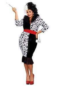 Woman's Plus Size Dalmatian Diva Costume
