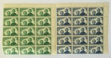 1944 New Zealand Health 2 Right Corner Blocks of 15 Stamps 1d & 2d Girl Guides