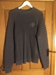 """Crosshatch RS Grey Jumper Size XL 22"""" Pit To Pit  Length 28"""" 100% Cotton"""