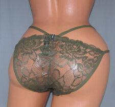 XOXO Strappy Green Lace SISSY POUCH PANTIES Crossdress for Men Sz 32-46 XL