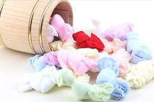 5 Pairs of Soft Stretch Pastel Cotton Baby Socks - Pack Children Footwear Babies