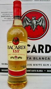 Bacardi Rum 151 Proof FLAMABLE 75.5% Full Sealed Bottle- Deleted /Rare $$ SALE $