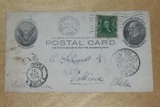 POSTCARD AMERICAN FLAG PAINTED ON (6 STARS) SENT FROM NEW YORK TO CHILE 1908
