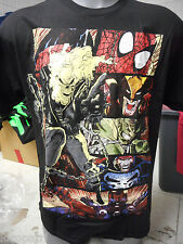 Mens Licensed Marvel Ghostrider Spiderman Heroes Shirt New XL