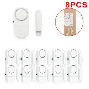 8 Wireless Alarm Sensor Loud Burglar Intruder Door Window House Security Safety