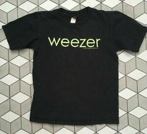 Weezer  Vintage Official Rare Glow in the Dark  T-Shirt GREEN Album 2005 Size S