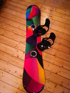 Rossignol Damen Snowboard Nachtigall Tesla Amptek RSP 148 mit Reflet Bindung SM
