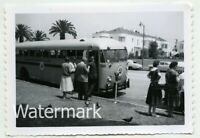 1960s snapshot photo  Los Angeles CA Tanner Gray Line Bus