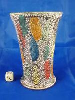 Aussergewöhnliche Keramik Vase TÖPFEREI DAMBECK bunt Kraquelle