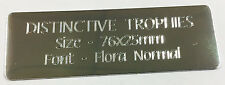 Personalised Machine Engraved Silver Metal Plate 76x25mm Nameplate Plaque