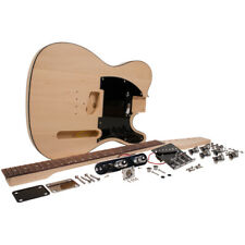 Premium DIY Traditional Electric Guitar Kit - Unfinished Luthier Project Kit