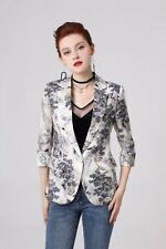 FP14 2019 Womens Designer Inspired Luxury Forest Printed Coat Jacket Blazer