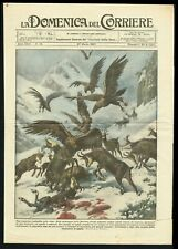 Unusual Battle between Eagles and 15 Chamois Deers in Bavaria, DDC Cover 1927