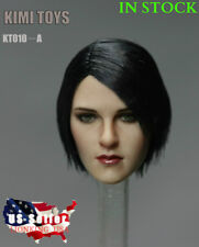1/6 Female Head Sculpt Short Black Hair KT010A For Phicen HotToys ❶USA IN STOCK❶