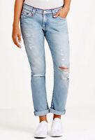 True Religion $359 Women's Audrew Slim Boyfriend Super T Jeans - WDAAB713A