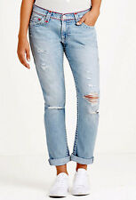 True Religion $359 Women's Audrew Slim Boyfriend Super T Jeans - WDAAB713A