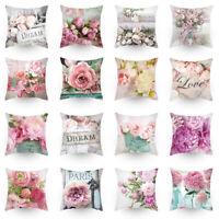 18'' Floral Colorful Sofa Pillowcase Pink Cushion Cover Throw Pillow Case Decor