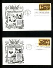 US FDC #1456-1459 Aristocrats / Lowry 1972 VA Colonial Craftsmen Set of 4