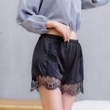 Women Lace Elastic High Waist Summer Short Pants Casual Beach Shorts